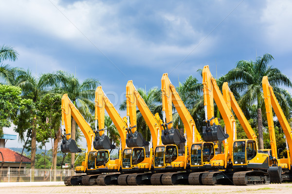 Shovel excavator on Asian  rental company Stock photo © Kzenon