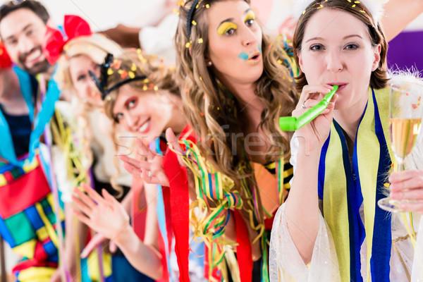вечеринка люди карнавальных новых лет Сток-фото © Kzenon