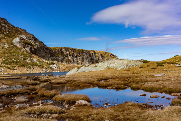 One of the seven lakes in the Rila mountains Stock photo © Kzenon