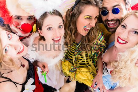 Girls on Rose Monday celebrating German Fasching Carnival Stock photo © Kzenon