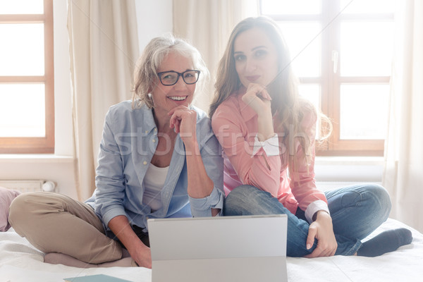 Two women starting their small business from home together Stock photo © Kzenon