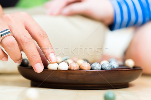 Marbles in a dish Stock photo © Kzenon