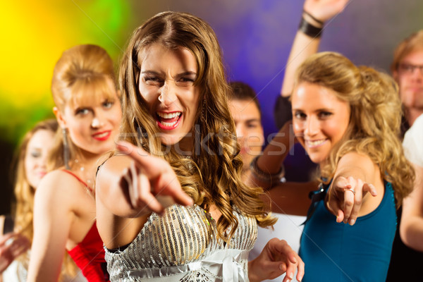 party people dancing in disco club Stock photo © Kzenon