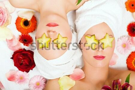 Wellness Girls and Flowers Stock photo © Kzenon