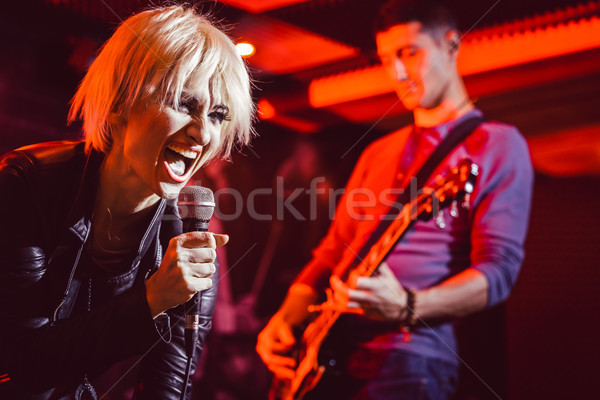 Banda música rock etapa junto hombre Foto stock © Kzenon
