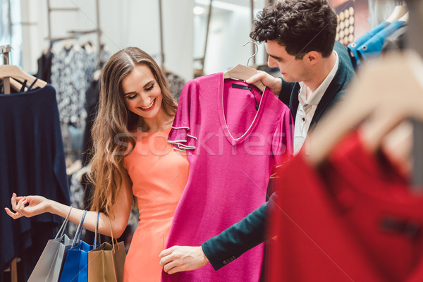 Kadın adam alışveriş elbise moda depolamak Stok fotoğraf © Kzenon