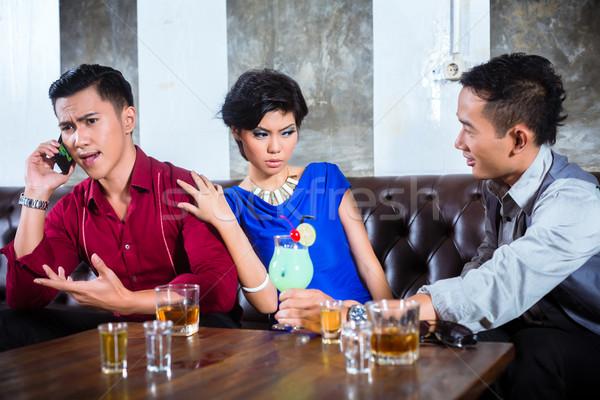 азиатских человека женщину ночном клубе вечеринка люди Сток-фото © Kzenon