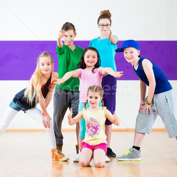 çocuklar tren zumba uygunluk dans Stok fotoğraf © Kzenon