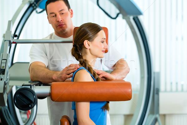 пациент физиотерапия физиотерапия женщину человека Сток-фото © Kzenon