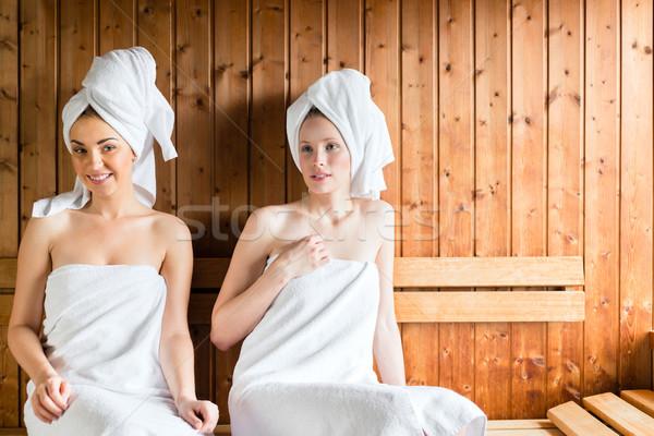 Kadın sağlıklı yaşam spa sauna demleme Stok fotoğraf © Kzenon