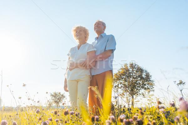 Сток-фото: романтические · пожилого · пару · здоровья · природы