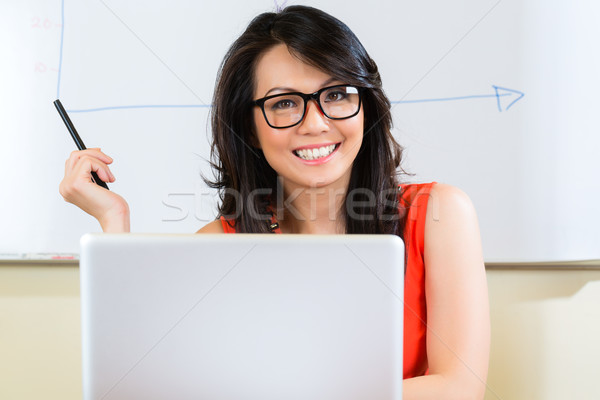 Indonesian Businesswoman in agency Stock photo © Kzenon