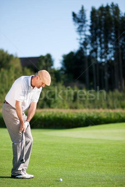 Senior jogador de golfe verão jogador de golfe golfe jogar Foto stock © Kzenon