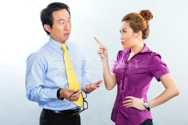 Crisis in Asian business office among colleagues Stock photo © Kzenon