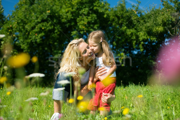 Mother with her daughter Stock photo © Kzenon