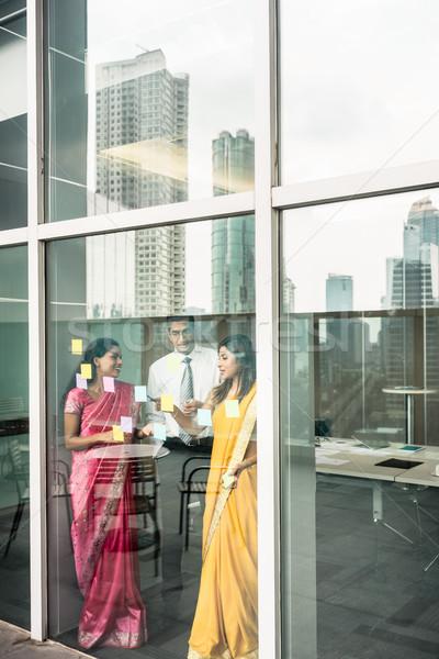 インド ガラス 壁 オフィス 3 ストックフォト © Kzenon