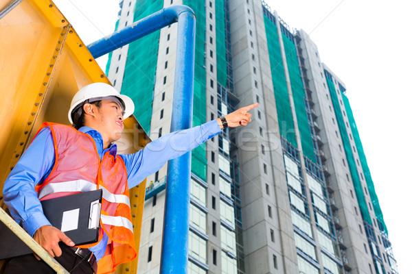 Asia trabajador supervisor edificio chino Foto stock © Kzenon