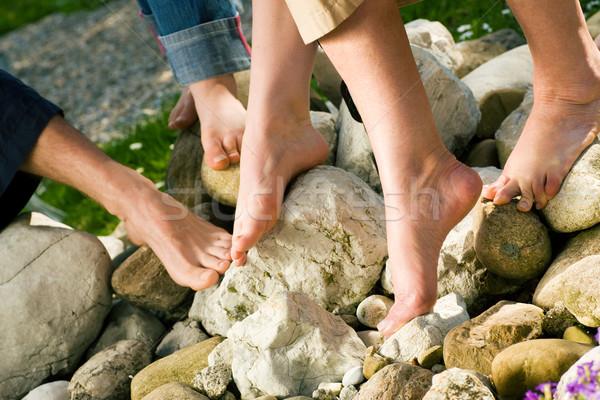Egészséges láb kövek férfiak nők különböző Stock fotó © Kzenon