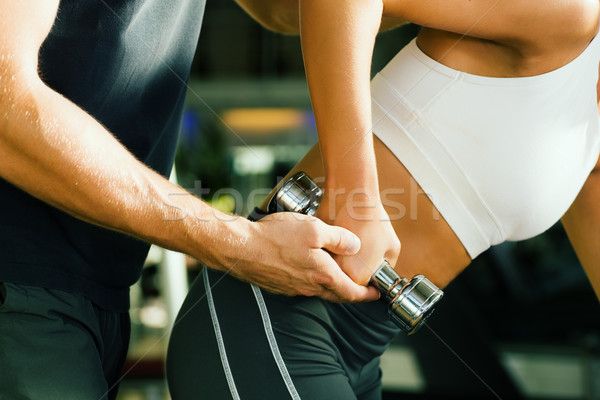 Assistance by the trainer Stock photo © Kzenon