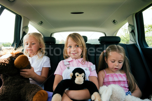 Stock photo: Family travelling by car