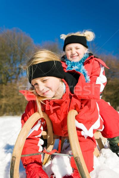 снега два мало детей Top Сток-фото © Kzenon