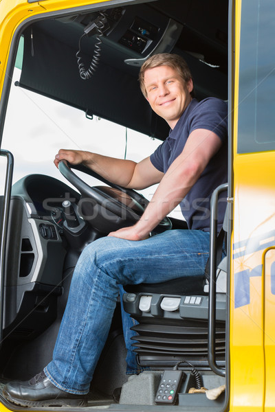 Camion pilote cap logistique fier industrie Photo stock © Kzenon