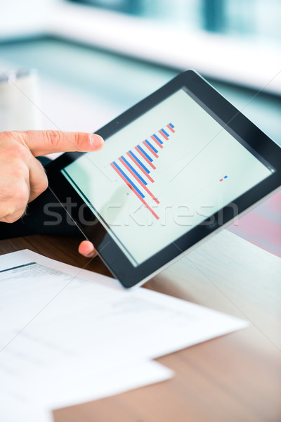 Business - Businessman working with tablet Computer Stock photo © Kzenon