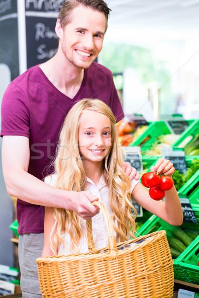 Stok fotoğraf: Aile · bakkal · alışveriş · köşe · alışveriş · baba
