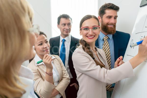 портрет деловой женщины улыбаясь новых проект Сток-фото © Kzenon