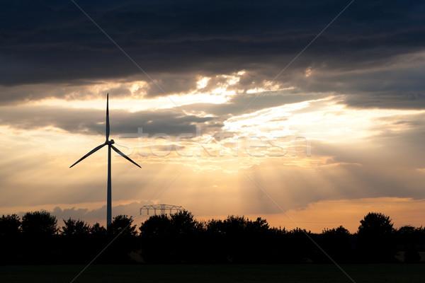 Windmill in the evening Stock photo © Kzenon