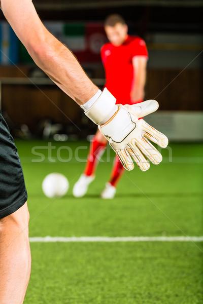 Man scoring a goal Stock photo © Kzenon
