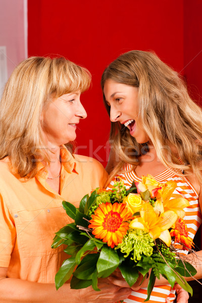 Mother?s or birthday - flowers and women Stock photo © Kzenon