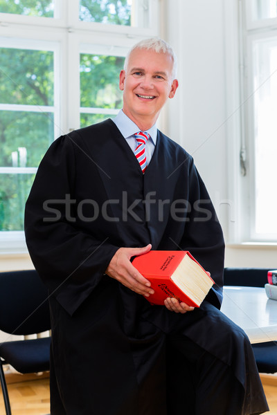 Trial Lawyer in his law firm Stock photo © Kzenon