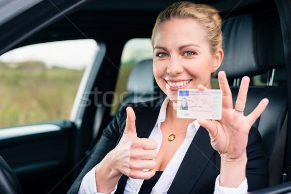 女性 運転 ライセンス 車 ストックフォト © Kzenon