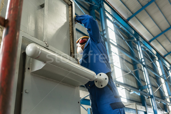 Two blue-collar workers wearing protective equipment  Stock photo © Kzenon