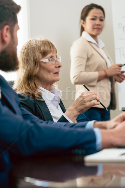 Portrait of a middle-aged woman during business meeting Stock photo © Kzenon