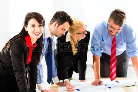 Affaires personnes bureau travail équipe quatre Photo stock © Kzenon