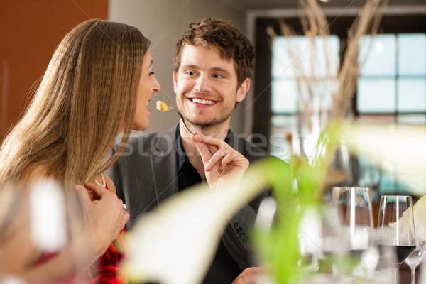 Dinner or lunch in restaurant Stock photo © Kzenon