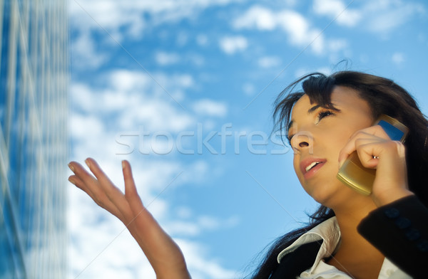 Phoning 2 Stock photo © Kzenon