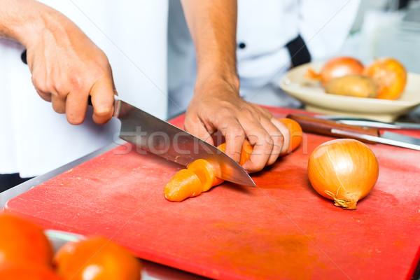 Stock fotó: Szakács · étterem · konyha · főzés · ázsiai · indonéz