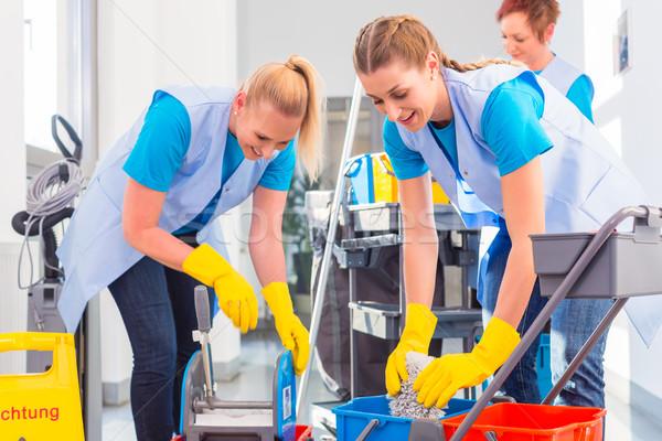 Kommerziellen Job zusammen drei Frauen Frau Stock foto © Kzenon