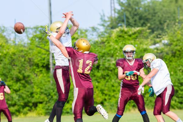 Americano jogo de futebol campo futebol esportes Foto stock © Kzenon