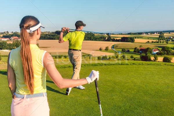 профессиональных гольфист Постоянный закончить положение долго Сток-фото © Kzenon