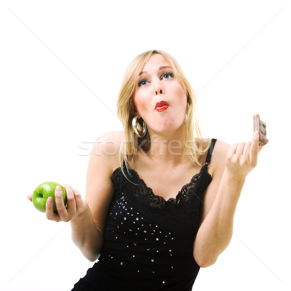 Stock photo: candy, not apple