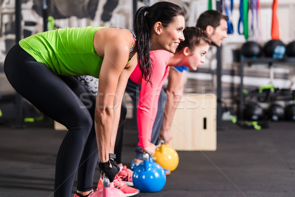 Functional fitness workout in sport gym Stock photo © Kzenon