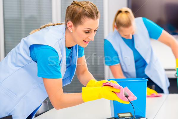 Cleaning ladies working in office Stock photo © Kzenon