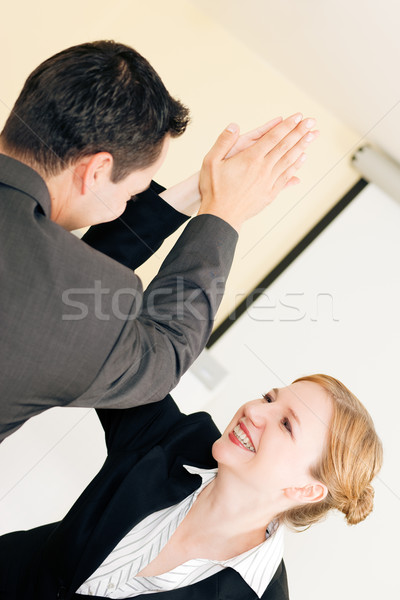 Stock photo: High Five for success in Business