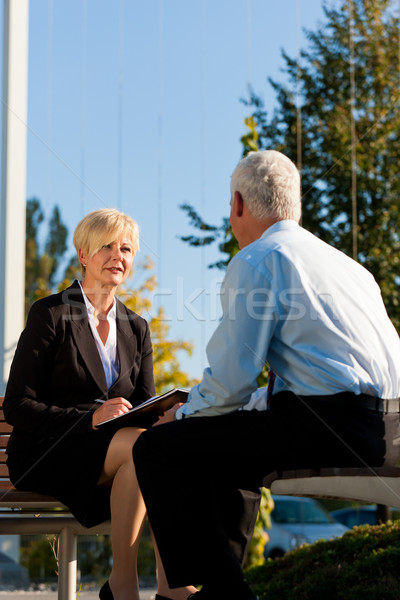 Business Coaching outdoors Stock photo © Kzenon