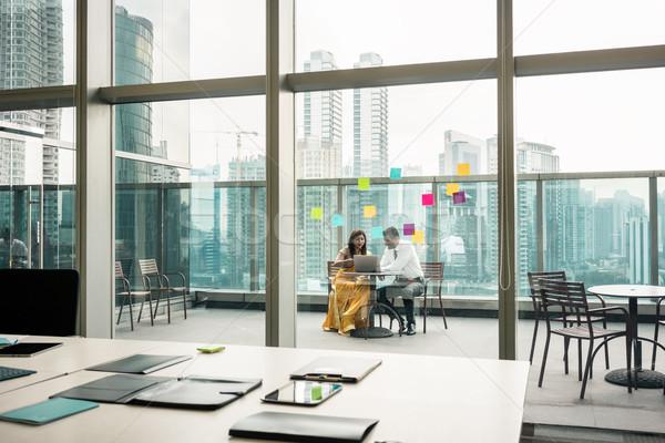 Moderna vacío oficina transparente vidrio paredes Foto stock © Kzenon
