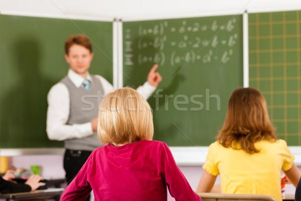 Oktatás tanár iskola tanít fiatal űrlap Stock fotó © Kzenon